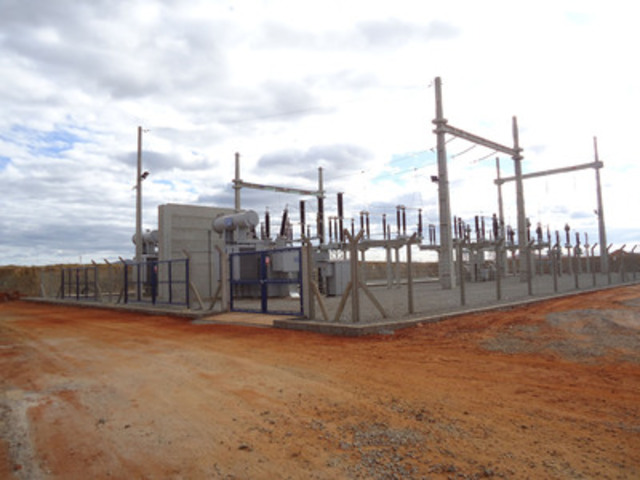 View of Completed Switchyward (CNW Group/Largo Resources Ltd.)