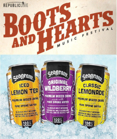 Seagram Coolers Sponsors Boots and Hearts Music Festival (CNW Group/Brick Brewing Co. Limited)