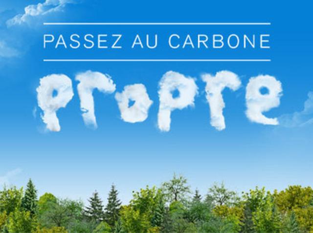 Visuel de la campagne « Passez au carbone propre ». (Groupe CNW/CONSEIL DE L'INDUSTRIE FORESTIERE DU QUEBEC)