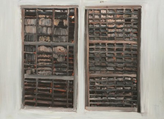 """Winnipeg's Brian Hunter wins 18th annual RBC Canadian Painting Competition for his work entitled """"Two empty trays mounted vertically"""" (CNW Group/RBC)"""