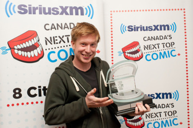 Eric Andrews had the last laugh as the Toronto comedian beat out 700 competitors to be named SiriusXM's Canada's Next Top Comic at a gala in Toronto on Tuesday night. Andrews takes home a $10,000 cash prize from the third-annual competition. (CNW Group/SiriusXM Canada)