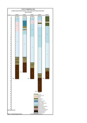 Carbadia Project Drillhole Sections - Phase 1 Exploration Program (May 2013) - Figure 2 - Lithological Interpretation - Page 5 (CNW Group/Strata Minerals Inc.)