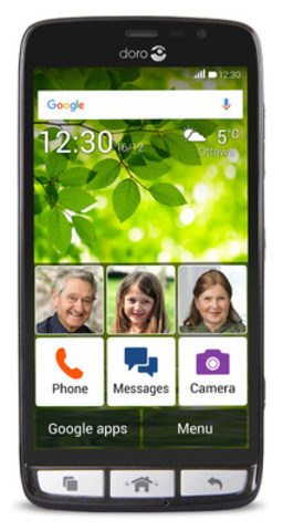 Bell adds the Doro 824 smartphone for customers with moderate visual, cognitive and physical needs to its portfolio of accessibility products. (CNW Group/Bell Canada)