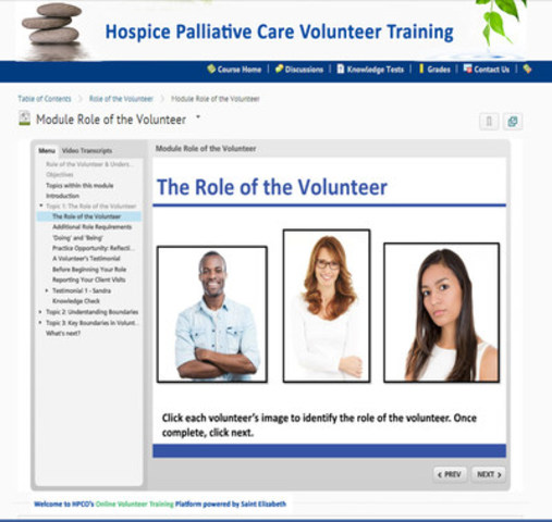 The partners are working collaboratively to update and transform existing classroom-based training into interactive e-learning modules that volunteers may complete at their own pace. (CNW Group/Saint Elizabeth Health Care)