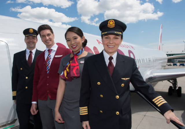 Air Canada Rouge fête son troisième anniversaire (Groupe CNW/Air Canada)