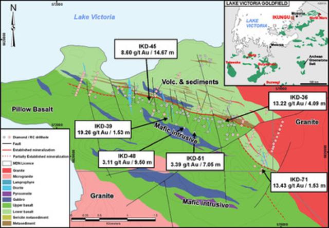 Lake Victoria Goldfield (CNW Group/Tanzania Minerals Corp)