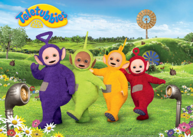 Tinky Winky, Dipsy, Laa-Laa and Po make their debut on Family Jr. in late 2015 when Teletubbies premieres. (CNW Group/DHX Television)