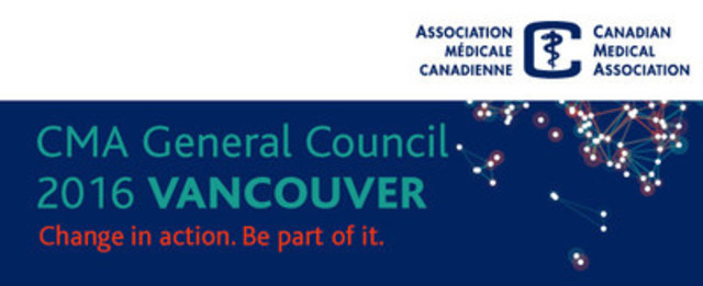 Final day of CMA Annual Meeting in Vancouver sees installation of new President, Dr. Granger Avery (CNW Group/Canadian Medical Association)