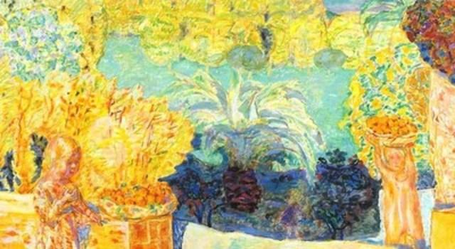 Pierre Bonnard, Paysage du Midi et deux enfants (détail), 1916-1918. Huile sur toile. Coll. Art Gallery of Ontario, don de Sam et Ayala Zacks (Groupe CNW/Musée national des beaux-arts du Québec)
