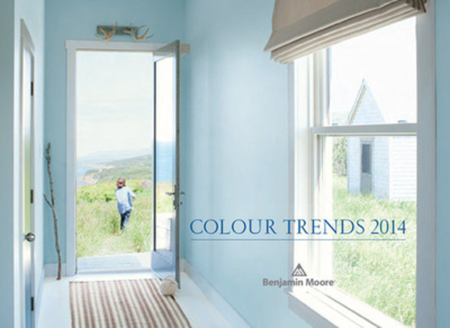 The Benjamin Moore 2014 Colour of the Year is Breath of Fresh Air. This gorgeous, ethereal blue serves as a new neutral that is both livable and functional (CNW Group/Benjamin Moore)