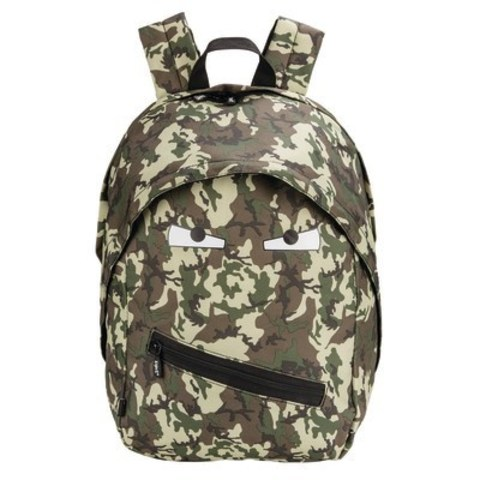 ZIPIT Grillz Backpack - A fun and stylish backpack with a Grillz zipper and eyes on the front. It features a tablet compartment, one large interior pocket and one small exterior pocket. It has a padded back for comfort and padded adjustable straps. It's available in an assortment of colours and patterns. (CNW Group/Staples Canada Inc.)