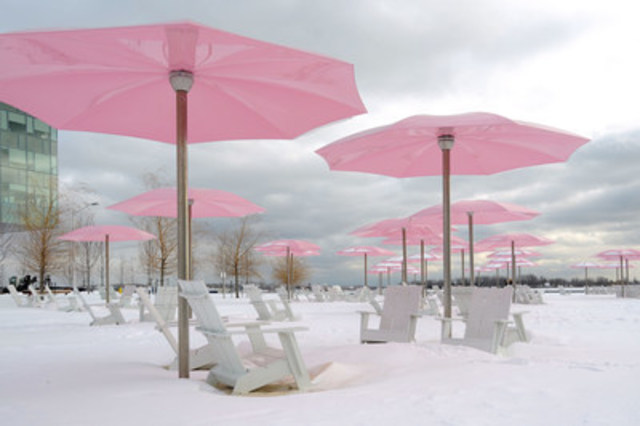 Le parc Sugar Beach du Canada en hiver. (Groupe CNW/Waterfront Toronto)