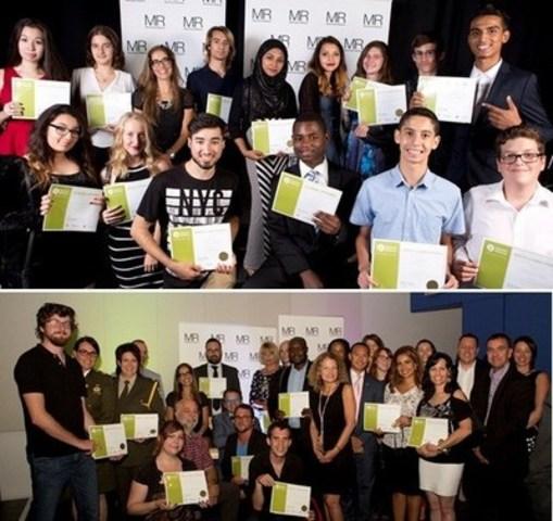 Entreprises méritantes 2015 et Élèves méritants 2015  - Montréal Relève (2015) (Groupe CNW/Montréal Relève)