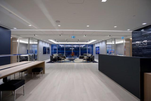Vue de la nouvelle réception de BLG située au 34e étage du Bay Adelaide Centre, East Tower (Groupe CNW/Borden Ladner Gervais S.E.N.C.R.L., S.R.L.)
