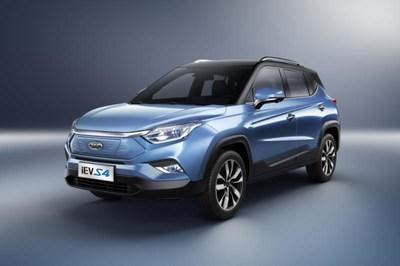شركة جي أيه سي موتورز سيارة iEVS4 في معرض سيارات شنغهاي 2019، تضع معيارا جديدا لأداء بطارية سيارة الدفع الرباعي الكهربائية