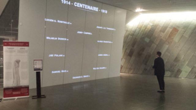 Le Musée canadien de la guerre présente Le monde se souvient (Groupe CNW/Musée canadien de l'histoire)