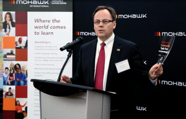Mohawk College President Ron McKerlie released the college's action plan in response to recommendations put forward by the Welcoming Communities Task Force. (CNW Group/Mohawk College of Applied Arts & Technology)
