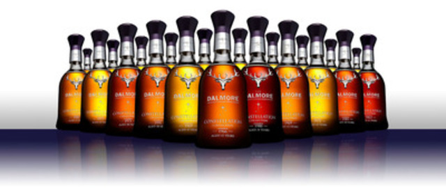 For the first time in Canada, The Dalmore has released the Constellation Collection - the brand's very best whiskies created at its iconic Scottish Highland distillery between 1966 to 1992. The collection, featuring some of the world's rarest single malts, is valued at $218,500 and will go on sale March 27. (CNW Group/The Dalmore)