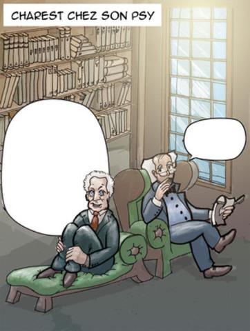 Étape 1 : Chaque semaine, nos 7 artistes réaliseraient une caricature incomplète qui serait publiée telle quelle. (Groupe CNW/Pierre Anthian)