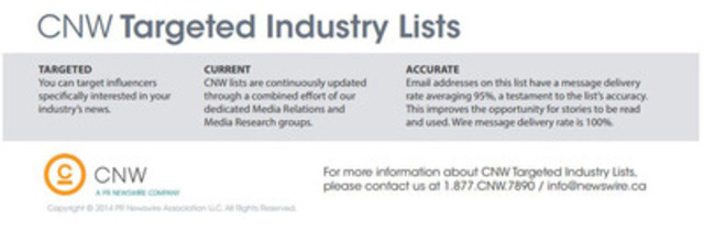 Be More Specific with CNW's Targeted Industry Lists (CNW Group/Canada NewsWire Ltd.)