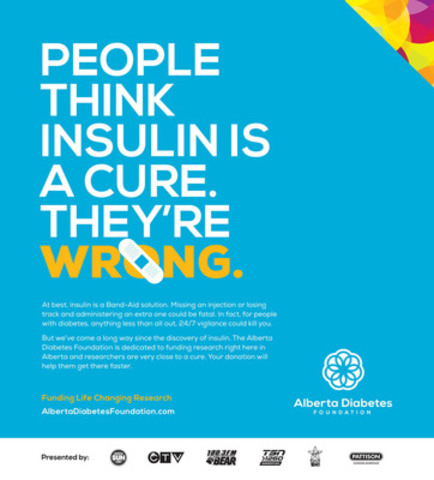 One of four ads that the Alberta Diabetes Foundation will be running to de-bunk some myths surrounding diabetes. (CNW Group/Alberta Diabetes Foundation)