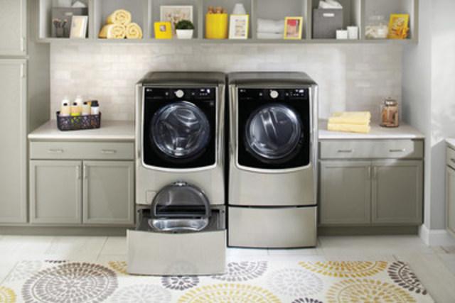 Le nouveau système de lavage TWIN Wash(MC) de LG est maintenant offert au Canada (Groupe CNW/LG Electronics Canada)