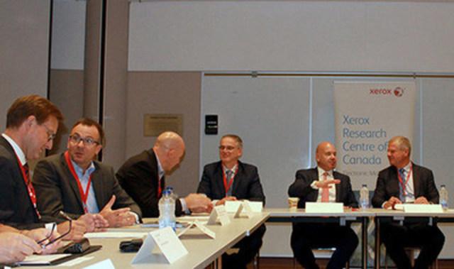 Des dirigeants d'entreprises et des représentants du milieu universitaire se réunissent pour discuter des facteurs critiques de succès liés à l'innovation et à la création de valeur profitable au Canada (Groupe CNW/Xerox Canada)