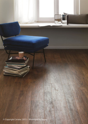 La nouvelle céramique Woodstyle : l'illusion parfaite du bois! (Groupe CNW/Ceratec)