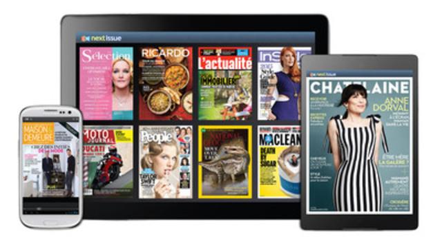 Rogers lance la version française de Next Issue le 20 avril (Groupe CNW/Rogers Communications Inc. - Français)