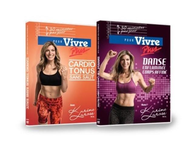 2 nouveaux DVD: Danse enflammée, corps affiné ainsi que Cardio-tonus sans saut (Groupe CNW/Nautilus Plus)