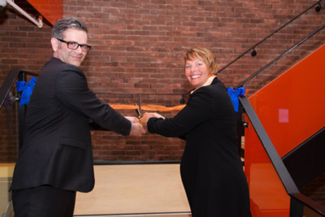 Ryerson University and Tangerine officially launched their new 'Thinkubator,' a unique business incubation space for Canadian start-ups, with an open house and ribbon cutting event last night in Toronto. (CNW Group/Tangerine)
