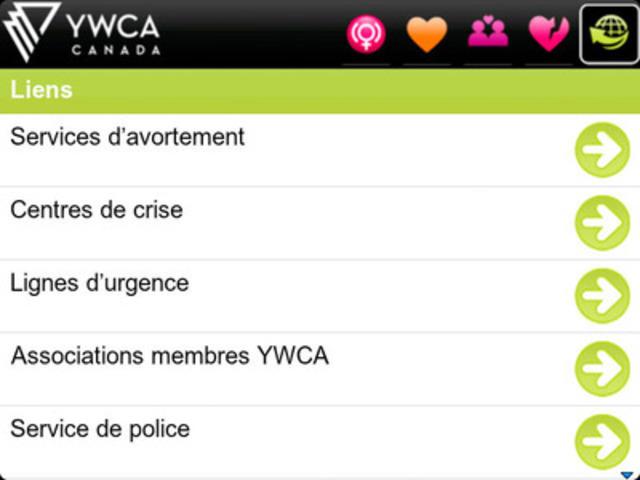 Alarme de sécurité YWCA pour les téléphones intelligents BlackBerry® (Groupe CNW/YWCA Canada)