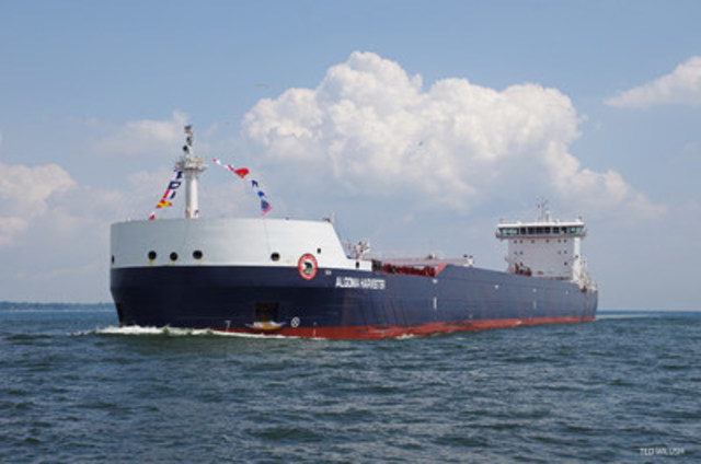 The Algoma Harvester, the second Equinox Class vessel built by Algoma, began service in 2014. (CNW Group/Algoma Central Corporation)