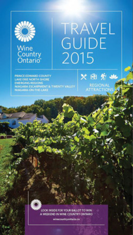 Front Cover of the Wine Country Ontario - Travel Guide, 2015 Edition (CNW Group/Wine Country Ontario)
