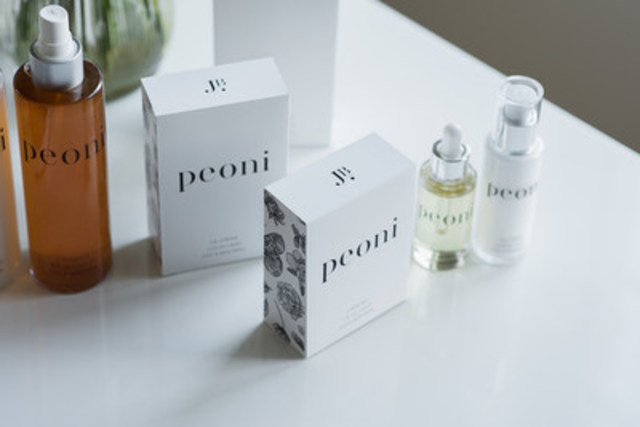 Peoni™ Skincare line by JB Skin Guru. Photo credit: Andréanne Gauthier (CNW Group/JB Skin Guru)
