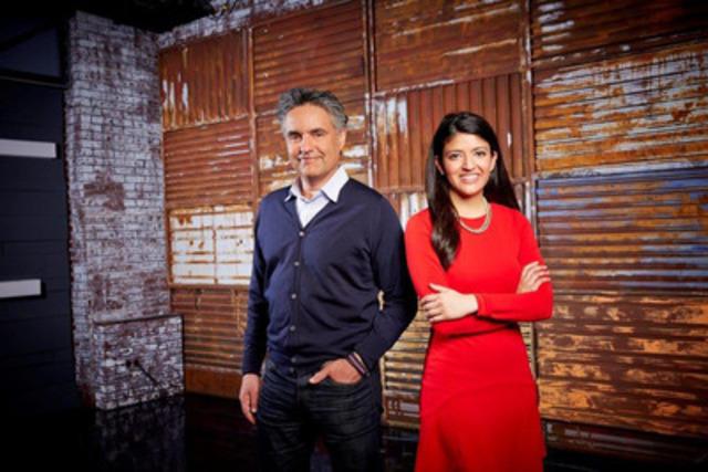 THE DISRUPTORS co-hosts Bruce Croxon and Amber Kanwar (CNW Group/BNN)