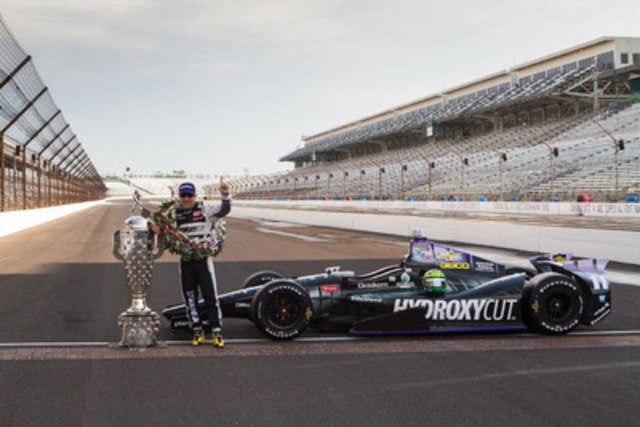 HYDROXYCUT INDYCAR & TONY KANAAN WIN HISTORIC 97TH INDIANAPOLIS 500® (CNW Group/Iovate Health Sciences International Inc.)