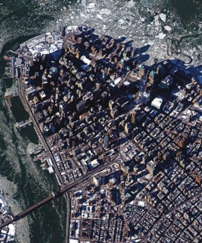 New York City, U.S., captured from Deimos-2, on February 24th, 2015. (CNW Group/UrtheCast Corp.)