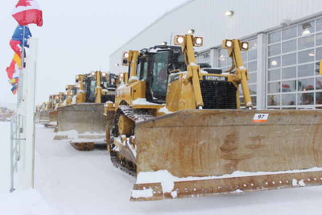 More than 3,750 equipment items and trucks were sold for CA$60+ million (US$57+ million) in Edmonton, AB on December 12 - 13, 2013. (CNW Group/Ritchie Bros. Auctioneers)