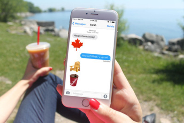 In celebration of Canada Day, Tim Hortons introduces the EHmoji keyboard, featuring 12 quintessential Canadian images, now available for download at the App Store. Tim Hortons will add new images to the keyboard based on fan feedback using #TextLikeaCanadian. (CNW Group/Tim Hortons)