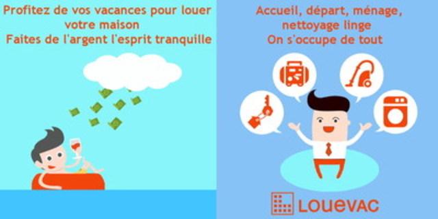Louevac, les services et la sécurité de vos locations Airbnb (Groupe CNW/louevac)