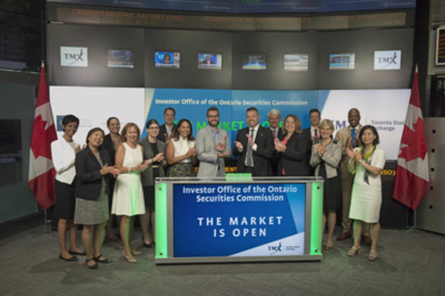 "Tyler Fleming, Director, Investor Office of the Ontario Securities Commission, joined Eleanor Fritz, Director, Compliance and Disclosure, Toronto Stock Exchange and TSX Venture Exchange to open the market to mark ""back to school"" for investors. The Investor Office is the OSC's newest regulatory operations branch. It sets the strategic direction and leads the organization's efforts in investor engagement, education, outreach and research, and also brings the investor perspective to policy-making and operations. Its initiatives include the award-winning investor education website GetSmarterAboutMoney.ca. For more information, please visit www.InvestorOffice.ca. (CNW Group/Toronto Stock Exchange)"