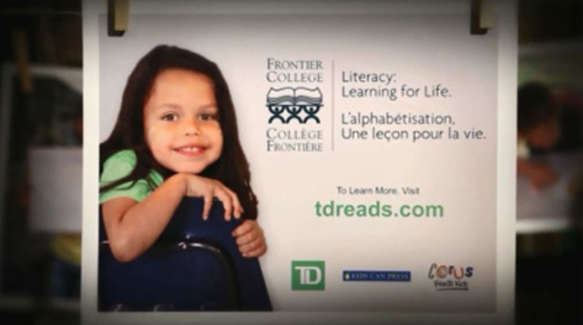Video: This 30-second spot for Frontier College Aboriginal Summer Literacy Camps will air on Corus Entertainment TV channels for two weeks starting July 28, 2014.