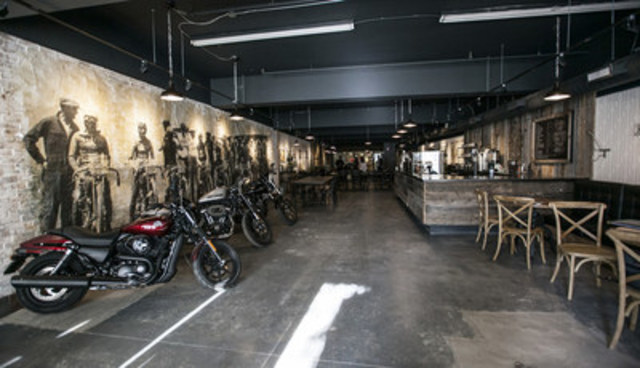 Today, Harley-Davidson Canada launched 1903 – A Harley-Davidson Café.  Named for the year the company was founded, the café is a gathering place for urban riders and motorcycle enthusiasts located at 96 Ossington Avenue in the heart of the Toronto's urban core. (CNW Group/Harley-Davidson Canada)