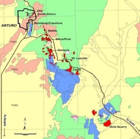 Figure 1 – South Arturo Property (CNW Group/Premier Gold Mines Limited)