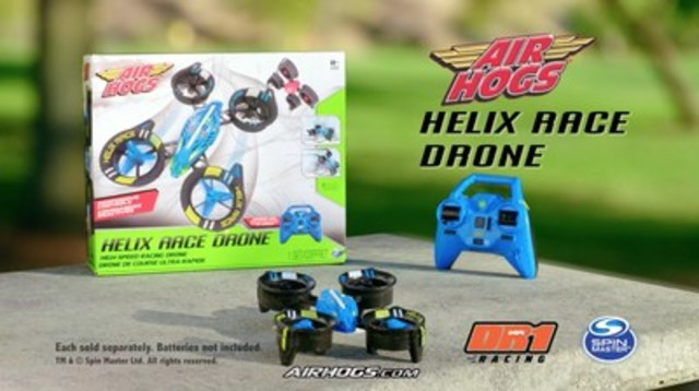 Spin Master and DR1 Racing announce Air Hogs partnership. New Air Hogs products, DR1 Micro Series sponsorship encourage young pilots to race like the pros. (CNW Group/Spin Master Corp.)