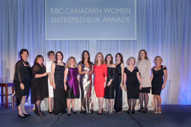 2015 RBC Canadian Women Entrepreneur Award Winners (CNW Group/Women of Influence)