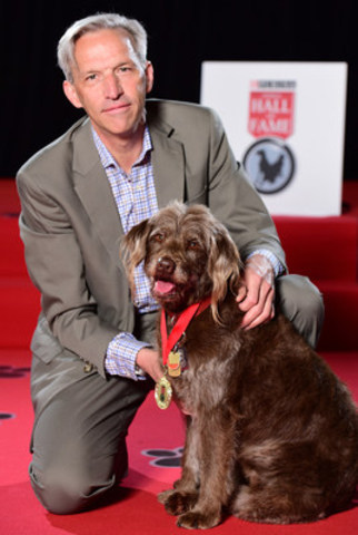 Matthew Church's heroic dog, Zola, was inducted today into the 2016 Purina Animal Hall of Fame for alerting to the fact that Matthew had suffered a heart attack. (CNW Group/Nestle Purina PetCare)