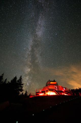 Auteur Guillaume Poulin. Parc national du Mont-Mégantic, Sépaq. (Groupe CNW/Société des établissements de plein air du Québec)