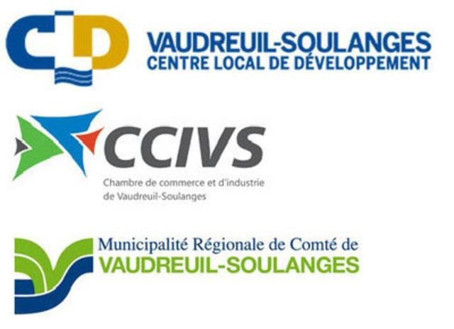 Le Centre local de développement Vaudreuil-Soulanges (CLDVS), la Chambre de commerce et d'industrie de Vaudreuil-Soulanges (CCIVS) et la MRC de Vaudreuil-Soulanges (MRCVS) (Groupe CNW/CLD Vaudreuil-Soulanges)